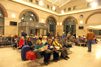 Dearborn waiting area. Photo by Steve Sobel.