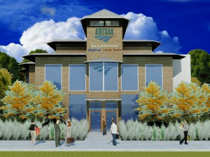 This is an artist's rendering of the future East Lansing Station.