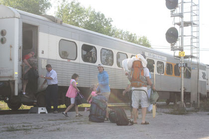 About a dozen passengers arrived on the Ontario Northlander train at the Washago, Ont., station on Aug. 30, 2012, from Cochrane. (QMI Agency file photo)