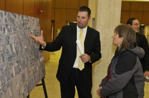 Drawings were shown at the M-1 Rail public hearing at the Detroit Public Library. (Photo from M-1 Rail)