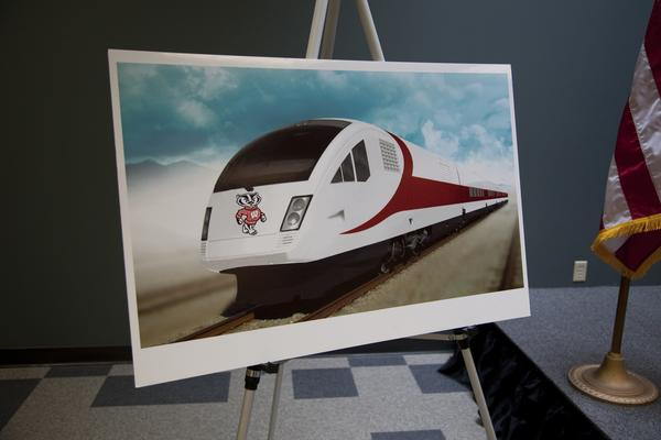A rendering of Talgo's Wisconsin high-speed trains