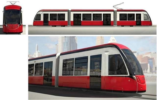 The M-1 RAIL Streetcars will be ADA compliant, have Wi-Fi and storage space for bicycles. The rendering is an example of what the streetcars could look like in Detroit once the system is operating in 2016. M-1 RAIL officials are checking out streetcars among the manufacturers who submitted proposals. . / M-1 Rail