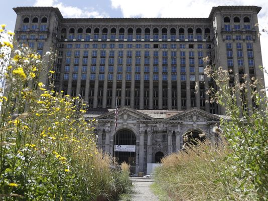 Matthew Moroun, son of depot owner Manuel (Matty) Moroun, floated the idea of moving some of the family's business operations into the Michigan Central Depot that it owns.(Photo: Mandi Wright)