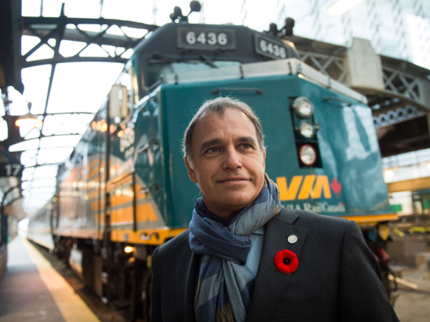 Head of Canada's dominant passenger rail service Yves Desjardins-Siciliano says high-speed rail is a tremendously expensive proposition, and it makes little sense to invest in it until the serious existing congestion problems on Canadian railways is solved.