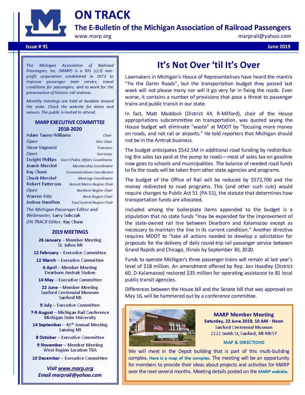 Newsletter   Michigan Association of Railroad Passengers